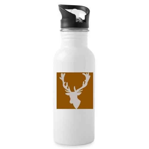 Hirch B BROWN WHITE - Trinkflasche