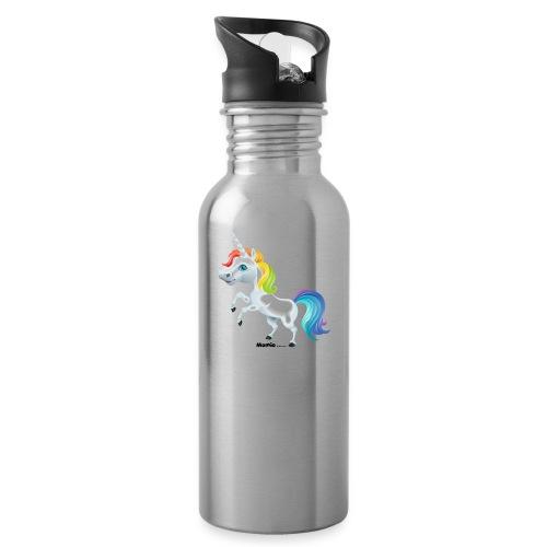 Rainbow yksisarvinen - Juomapullo, jossa pilli