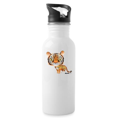 Tiger - Drikkeflaske med integrert sugerør