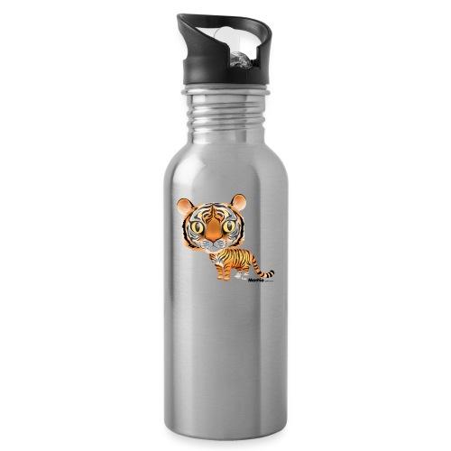 Tiikeri - Juomapullo, jossa pilli