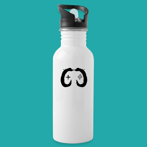 Crowd Control Controller Logo Black Large - Water Bottle