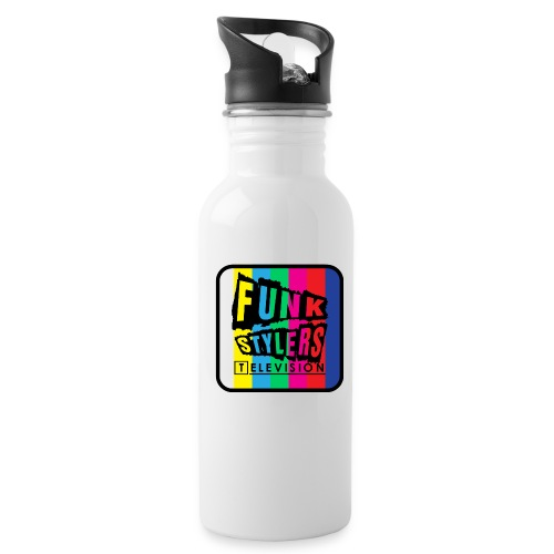 Bordered Colour - Water Bottle