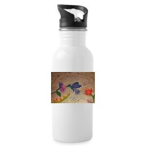 Kolibrie & bloemen - Drinkfles