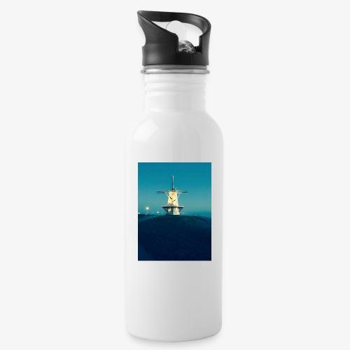 Windmühle an der Küste - Trinkflasche