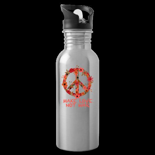 Hippie flowers peace - Water Bottle