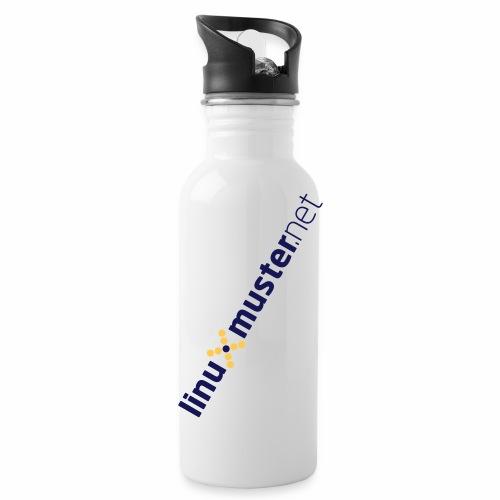 logo weiss transparent - Trinkflasche mit integriertem Trinkhalm