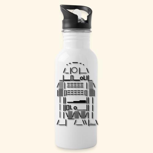 ASCII Art R2 D2 - Text art - Water Bottle