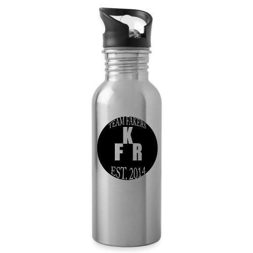 TeamFakers jpg - Trinkflasche mit integriertem Trinkhalm