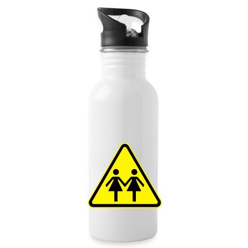 ACHTUNG LESBEN POWER! Motiv für lesbische Frauen - Trinkflasche