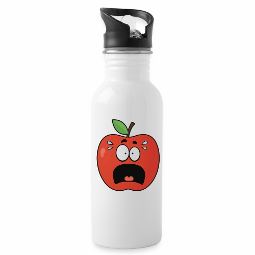 scared apple - Trinkflasche