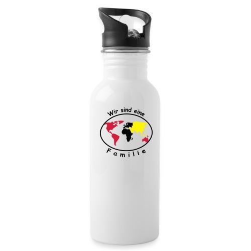 TIAN GREEN - Wir sind eine Familie - Trinkflasche