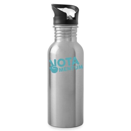 Liquid Democracy - Trinkflasche mit integriertem Trinkhalm