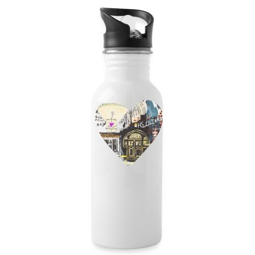 helsinkiheart png - Water Bottle