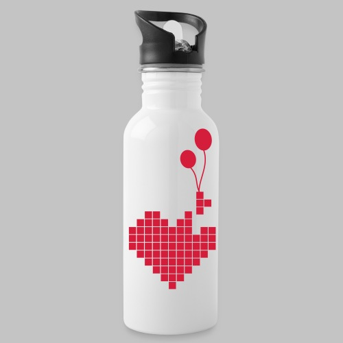 heart and balloons - Water Bottle