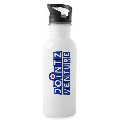 jointz_venture_1side_3d - Trinkflasche mit integriertem Trinkhalm