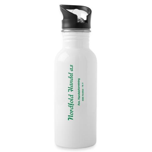 NH Logo horisontal - Drikkeflaske med integrert sugerør
