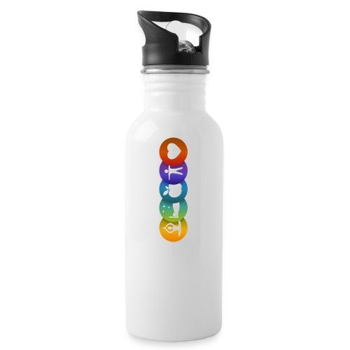 Salud & Bienestar - Botella cantimplora con pajita integrada