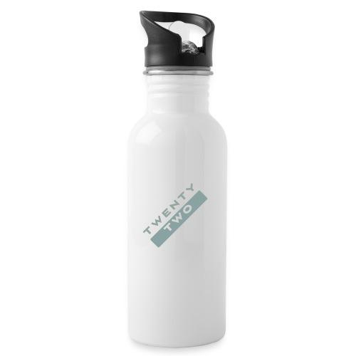 Twenty Two - Water bottle with straw