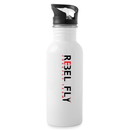 RebelFlyFreeflyTeamT ShirtPrintInverse png - Drikkeflaske med integrert sugerør