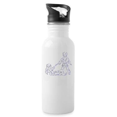 Judo for fred - Drikkeflaske med integrert sugerør