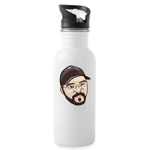herrnewstimekopf png - Trinkflasche mit integriertem Trinkhalm