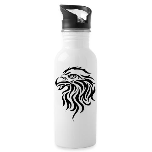 Logo_black_vek2 - Trinkflasche mit integriertem Trinkhalm