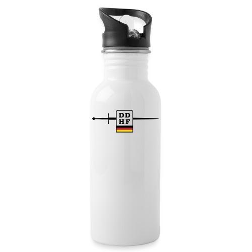Logo DDHF farbig - Trinkflasche mit integriertem Trinkhalm