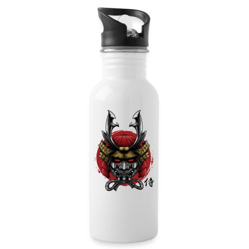Samurai Head 01 png - Water bottle with straw