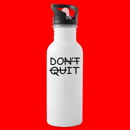 Don't Quit, Do It - Drikkeflaske med integreret sugerør