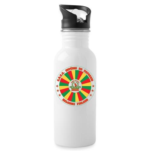 Papagaio drum logo - Juomapullo, jossa pilli