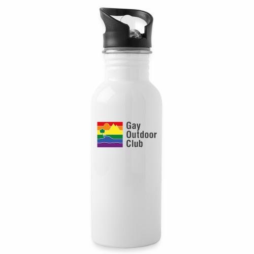 GOC Logo Black Text - Water bottle with straw