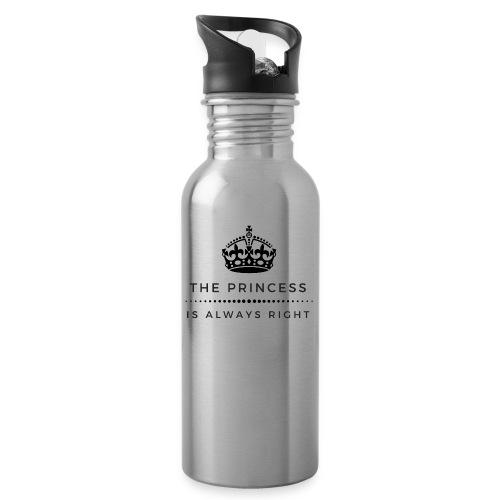 THE PRINCESS IS ALWAYS RIGHT - Trinkflasche mit integriertem Trinkhalm