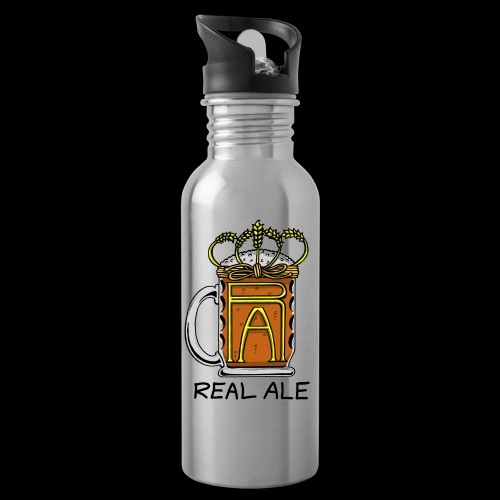 Real Ale - Water bottle with straw
