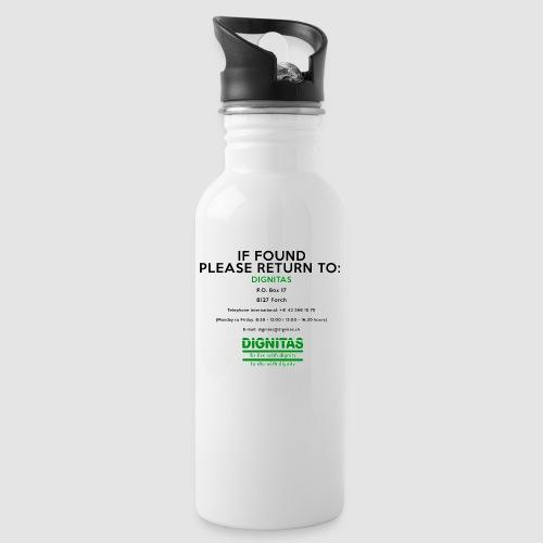 Dignitas - If found please return joke design - Water bottle with straw