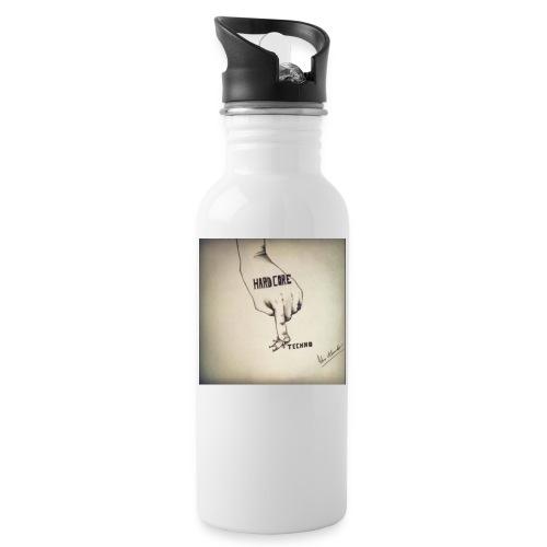 DerHardstyle.ch Hard_Core Techno - Trinkflasche mit integriertem Trinkhalm