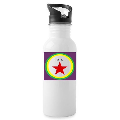 I'm a STAR! - Water bottle with straw