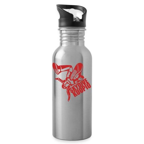 KLU logo red - Juomapullo, jossa pilli