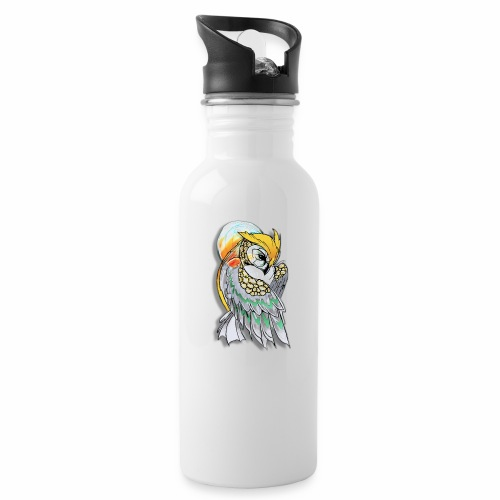 Cosmic owl - Botella cantimplora con pajita integrada