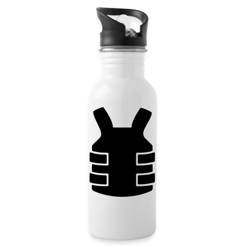 Bullet Proof Design - Water bottle with straw