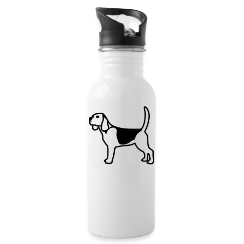 Beagle - Trinkflasche mit integriertem Trinkhalm