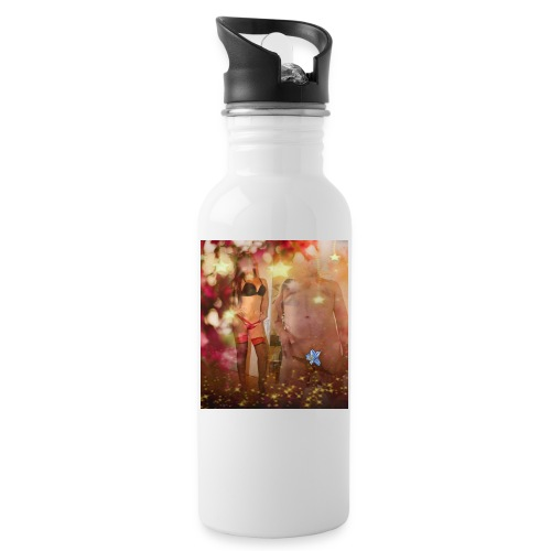 herbst Sinfonie - Trinkflasche mit integriertem Trinkhalm