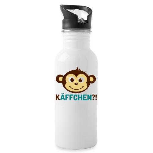 Monkey Käffchen 3 - Trinkflasche mit integriertem Trinkhalm