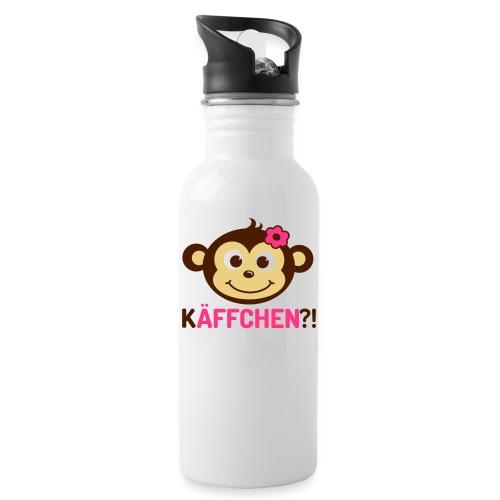 Monkey Käffchen Girl 3 - Trinkflasche mit integriertem Trinkhalm