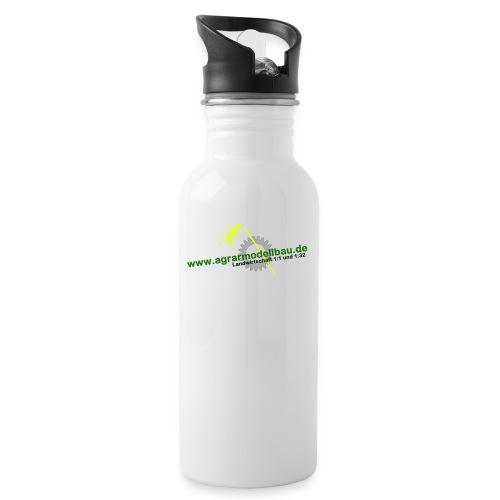 forenlogopngneu - Trinkflasche mit integriertem Trinkhalm
