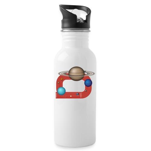 Orbit People - Trinkflasche mit integriertem Trinkhalm