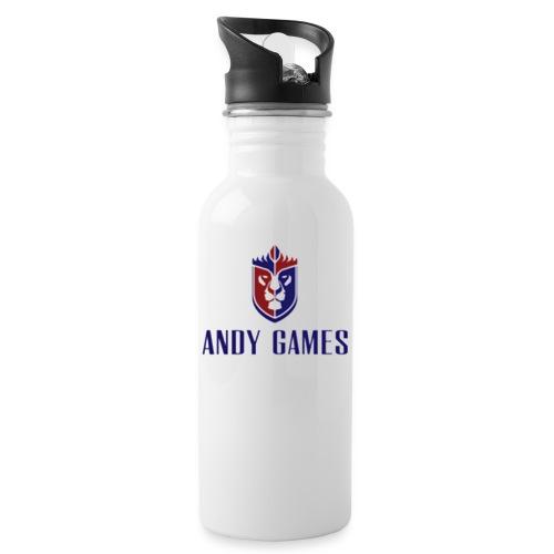 logo andygames - Drinkfles met geïntegreerd rietje
