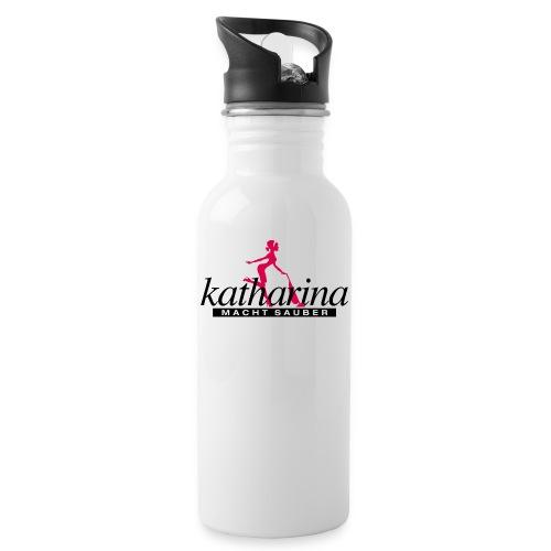 katharina - Trinkflasche mit integriertem Trinkhalm