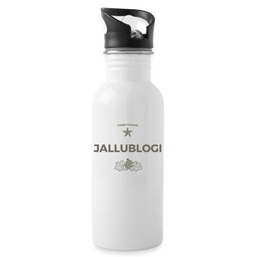 Jallublogi muki valkoinen - Juomapullo, jossa pilli