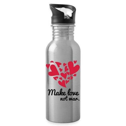 Make Love Not War T-Shirt - Water bottle with straw
