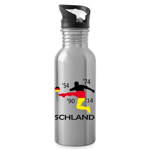 Deutschland 2018 WM - Trinkflasche mit integriertem Trinkhalm